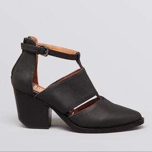 Jeffrey Campbell Leather Vela Cut Out Sandals
